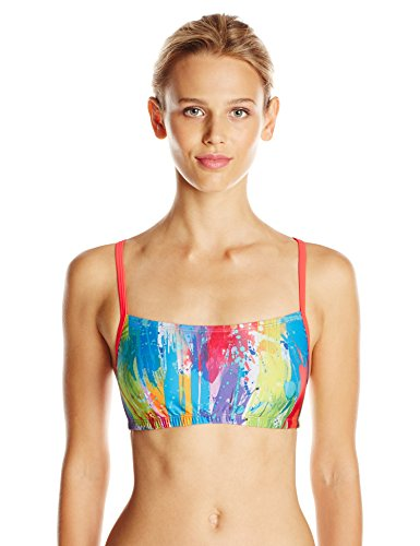 Speedo Women's Printed Swimsuit Set (2 Piece), Blue/Red, - Discount Swimsuits Speedo