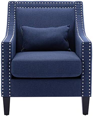 Accent Armchair Fabric Arm Chairs Nailhead Club Chairs Retro Lounge Chair
