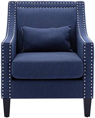 Accent Armchair Fabric Arm Chairs Nailhead Club Chairs Retro Lounge Chair