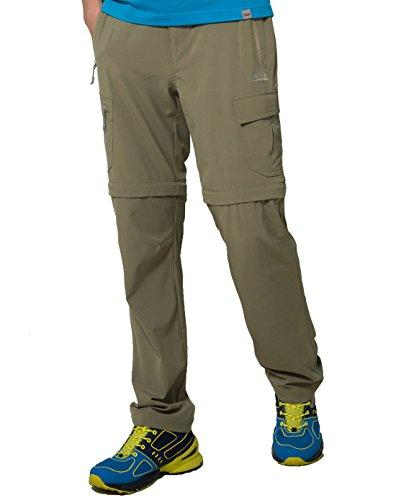 Makino Mens Convertible Quick Drying Hiking Pants M131611002   Brown 2XL