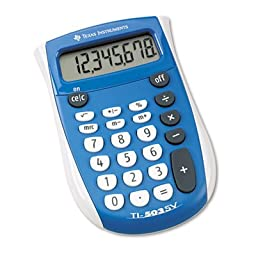 TI-503SV Pocket Calculator, 8-Digit LCD, Total 12 EA, Sold as 1 Carton