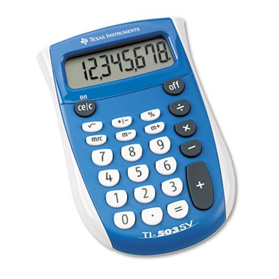 TI-503SV Pocket Calculator, 8-Digit LCD, Sold as 1 Each