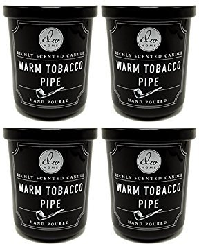 4 Pk Dw Home Warm Tobacco Pipe Richly Scented Candles Small 4 Oz Size (Best Smelling Pipe Tobacco)