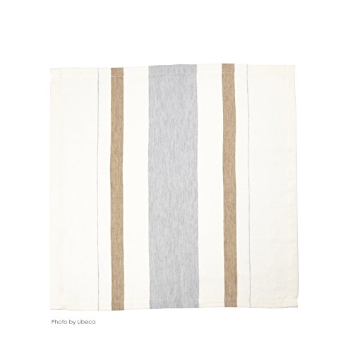 Libeco Giulia Stripe 100% Linen Napkins (Set of 6) 21'' x 21'' (53.3cm x 53.3cm) Square by Libeco