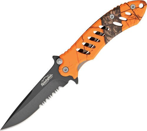 (Remington Cutlery R19767 F.A.S.T. Large Folder Knife with Black Oxide Finish Serrated Blade, 5-Inch, Mossy Oak Blaze)