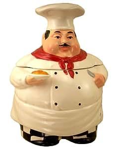 Fat Chef Ceramic Cookie Jar Bistro Italian
