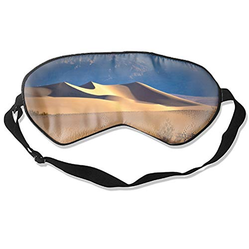 Sleeping Eye Mask Death Valley USA Desert Sand Mountains Natural Silk Eye Mask Cover with Adjustable Strap