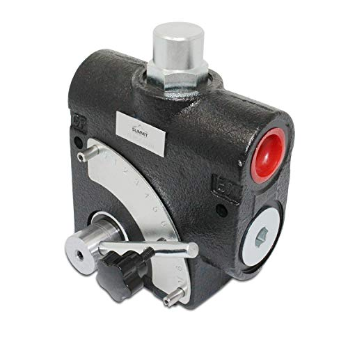 "Hydraulic Adjustable Variable Flow Control Valve w/Relief, 0-30 GPM, 3/4"" NPT Port Size"