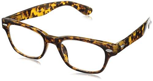 Peepers Men's Clark Retro Reading Glasses, Golden Tortoise, 1.25 ()