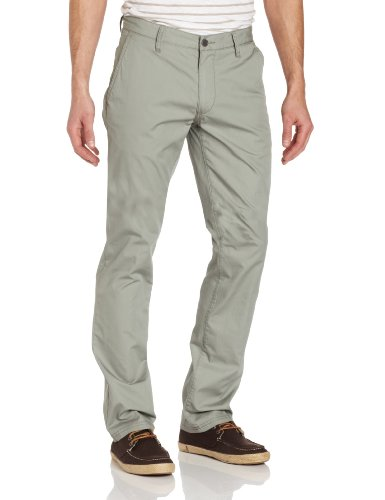 (John Varvatos Star USA Men's Slim Fit Back Flap Pocket Pant, Moon Mist, 32)