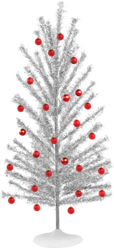 bos genuine aluminum christmas tree - Silver Tinsel Christmas Tree