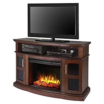 Pleasant Hearth Rochester Media Electric Fireplace, Cherry
