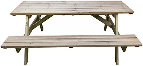 Tavolo Picnic 180x120xh70 Legno Robusto Panche Seduta Arredo Giardino Bd 46068 Amazon It Giardino E Giardinaggio