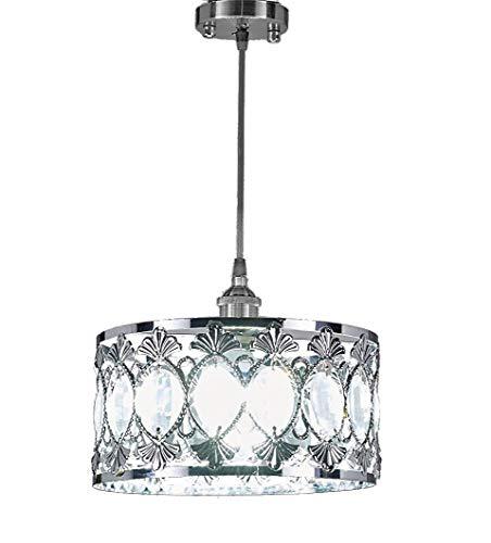 - New Galaxy 1-Light Chrome Finish Modern Crystal Chandelier Pendant Hanging Lighting Fixture