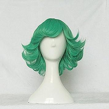 Amazon Com One Punch Man Tatsumaki Green 35cm Curly Cosplay Wig