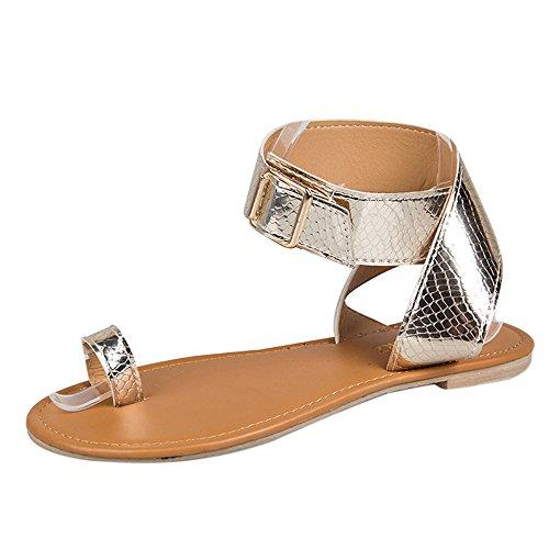 - SMALLE ◕‿◕ Rome Sandals for Women, Women Summer Cross Belt Rome Strappy Flat Flip Flops Sandals Rose Gold