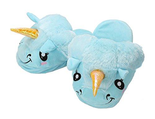 Halloween Pantofole di Magico Blu Festa Taglia Regali Animali Unisex Peluche Cosplay Unicorno adulto 1rqwrXU