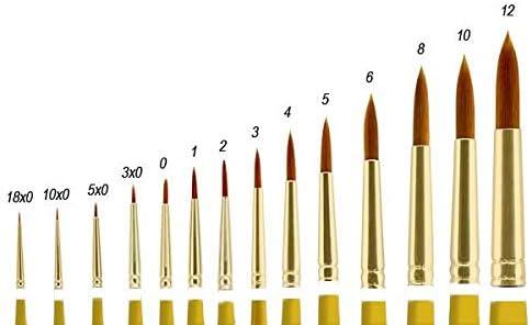Fine Art Heavy Bodied Media Oils Single Brush - Creative Mark Qualita Golden Paint Brush Taklon Short Handle Paint Brush for Acrylics Angular - Size 1//4in