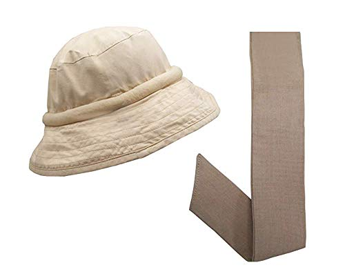 Blubandoo | Water Activated Cooling Crystals | Floppy Hatbandoo Bucket Hat Size L/XL with Matching Khakhi Neckbandoo | Unisex Hat Khaki]()