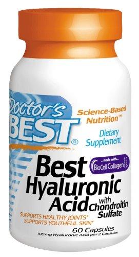Meilleur médecin Acide Hyaluronique meilleur avec des capsules de sulfate de chondroïtine, 60-Count