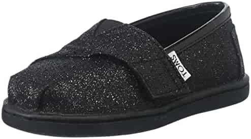 TOMS 013001D13BLK:Tiny Classic Canvas BLACK Slip-on Loafer Flat for Toddler Baby