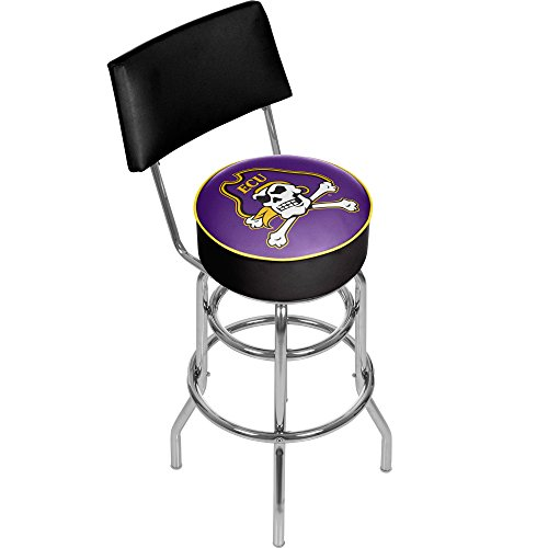 NCAA East Carolina University Padded Swivel Bar Stool with Back by Trademark Gameroom