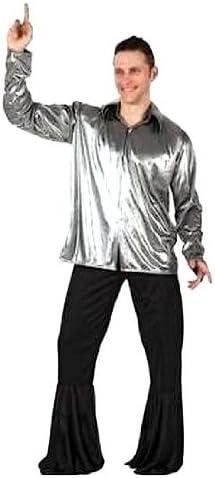 Desconocido Camisa plateada estilo disco para adulto: Amazon.es: Juguetes y juegos
