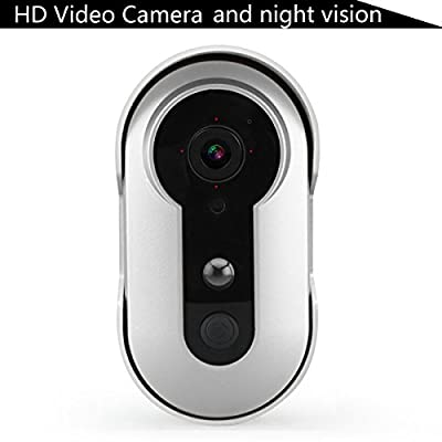 Onlydriod Wireless HD Video Doorbell , Night Vision Camera Doorbell ,WiFi Smart Visual Intercom Enabled Video Doorbell with Battery Powered,Phone Remote Control Camera Doorcam Doorviewer.