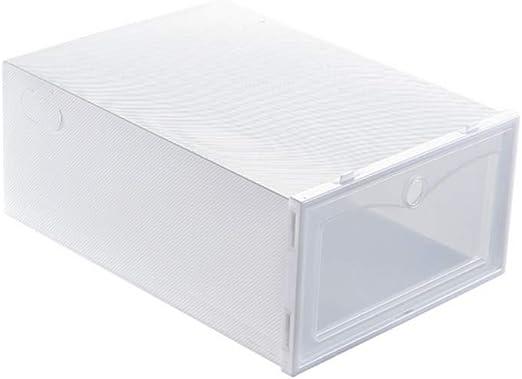 Blanchel Cajas de zapatos Almacenamiento Cajones transparentes Contenedor de almacenamiento Organizadores apilables plegables de pl/ástico
