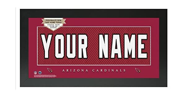 505bc8901 Amazon.com - Arizona Cardinals NFL Custom Jersey Nameplate Framed Sign -