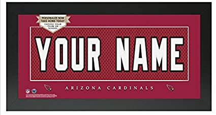 de24180cd Image Unavailable. Image not available for. Color  Arizona Cardinals NFL  Custom Jersey Nameplate Framed Sign
