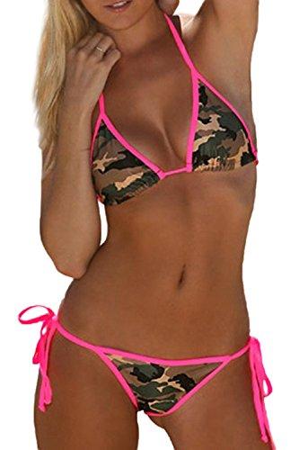 9344ce72b3f Jual Fanvans Sexy Thong Bikini Set Camouflage Swimsuit for Women ...