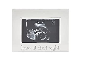 Tiny Ideas Sonogram Keepsake Photo Frame, Silver 0