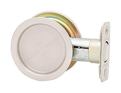 Pocket Door Lock Stn Nkl ()
