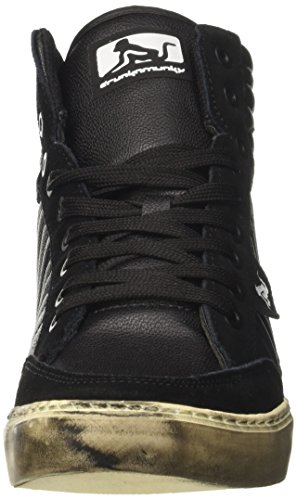 DrunknMunky Men's Boston Logo Tennis Shoes, Black Black (Nero 043)