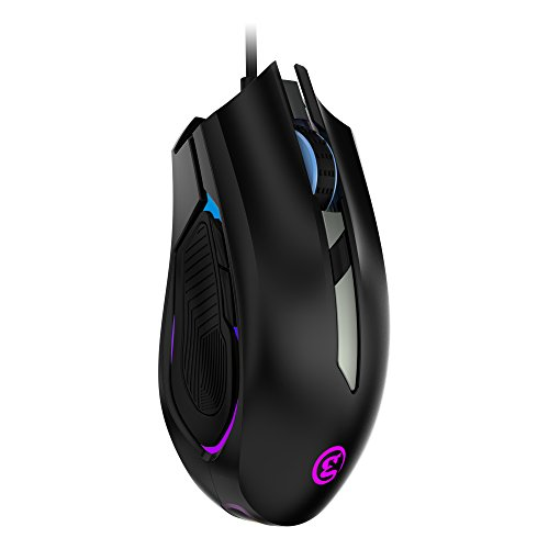 GameSir GM100 Gaming Mouse Wired Ergonomic Game USB Computer Mice RGB Gamer 6 Buttons Desktop Laptop PC Gaming Mouse