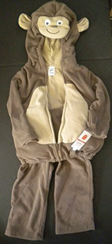 Carter's Baby Costume Monkey 2 Pieces Pants Hooded Top Brown NEW (6-9 ()