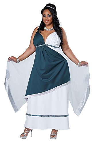 California Costumes Women's Plus-Size Roman Beauty Goddess Queen Long Dress Plus