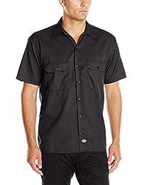 Men's Short-Sleeve Flex Twill Work Shirt Stain & Wrinkle...