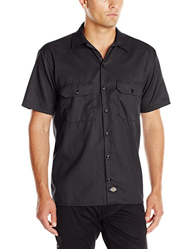 Dickies Men's Short-Sleeve Work Shirt, Black, Large ()