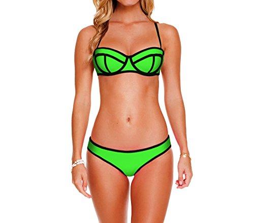imbottita swimwear mod Verde con mare NEO Costume bikini Ahead MEDIAWAVE effetto MWS 3D Store coppa wqTfPA