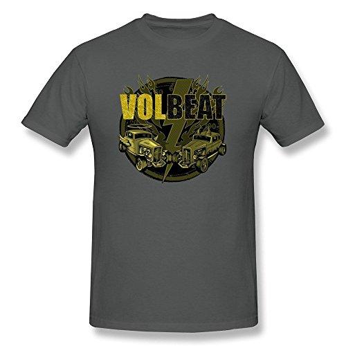Universal Mascot T-shirt - Zelura Men's Volbeat Tour Danish Metal Band T-shirts DeepHeather XL