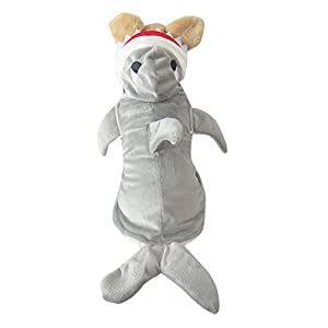 Vvhome Shark Cotton Tidy Costume for Cats Dogs
