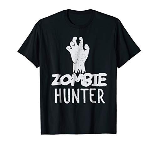 zombie hunter t-shirt halloween costume gift ()