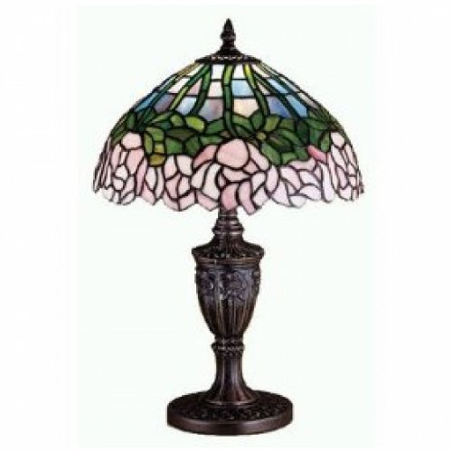 Bronze Cabbage Rose - 18 Inch H Cabbage Rose Accent Lamp Table Lamps