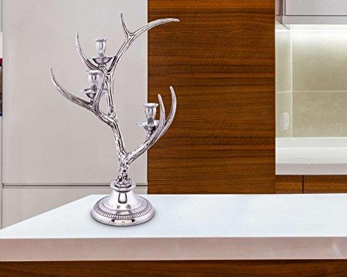 Arthur Court Designs Aluminum Antler Candlestick 3 Light 17.5 inches Tall by Arthur Court Designs