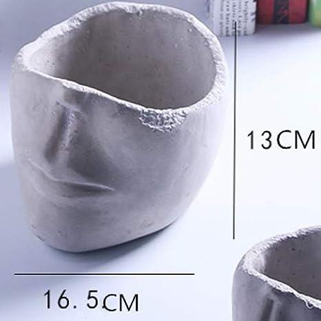 TH26 Boda Creativa nórdica Estilo Cemento florero Humano Cara ...