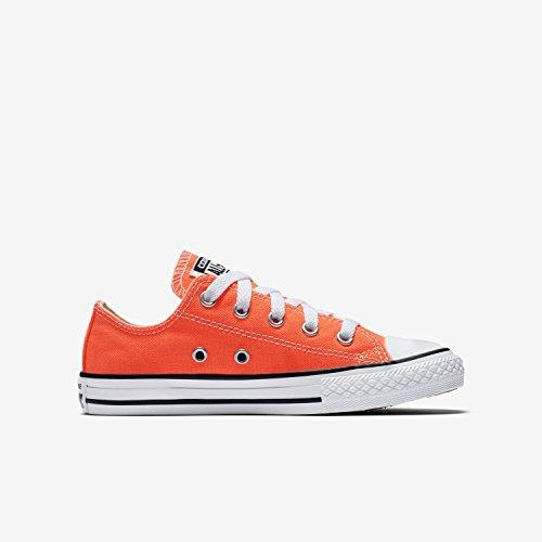 Converse Kid's Chuck Taylor All Star Seasonal Ox Fashion Sneaker Shoe - Hyper Orange - Boys - 13.5 (Chuck Taylor All Star Seasonal Ox Sneaker Unisex)