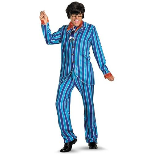 Austin Powers Carnaby Suit Deluxe Costume - X-Large - Chest Size 42-46 (Adult Austin Powers Costume)