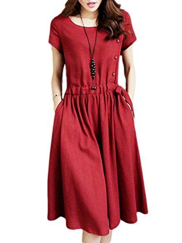 buttoned summer dresses - 2